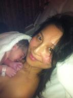 Cecilia & baby Lachlan Born
